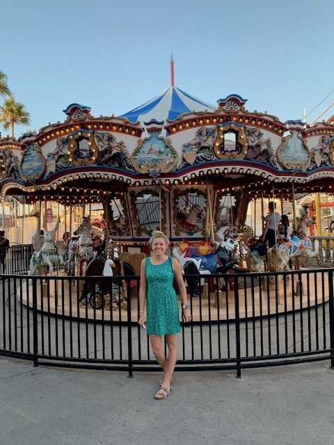 carousel at Belmont Park in Mission Beach