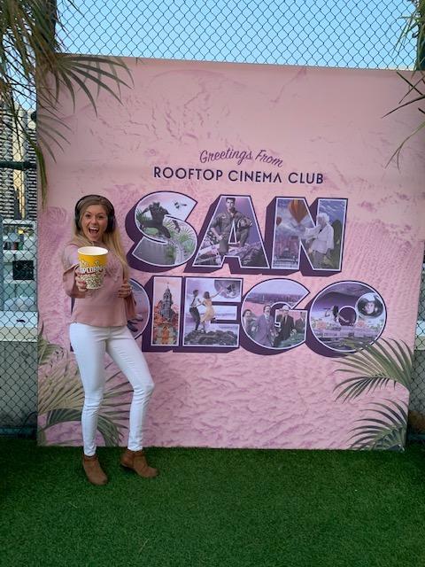 Rooftop Cinema Club in downtown San Diego