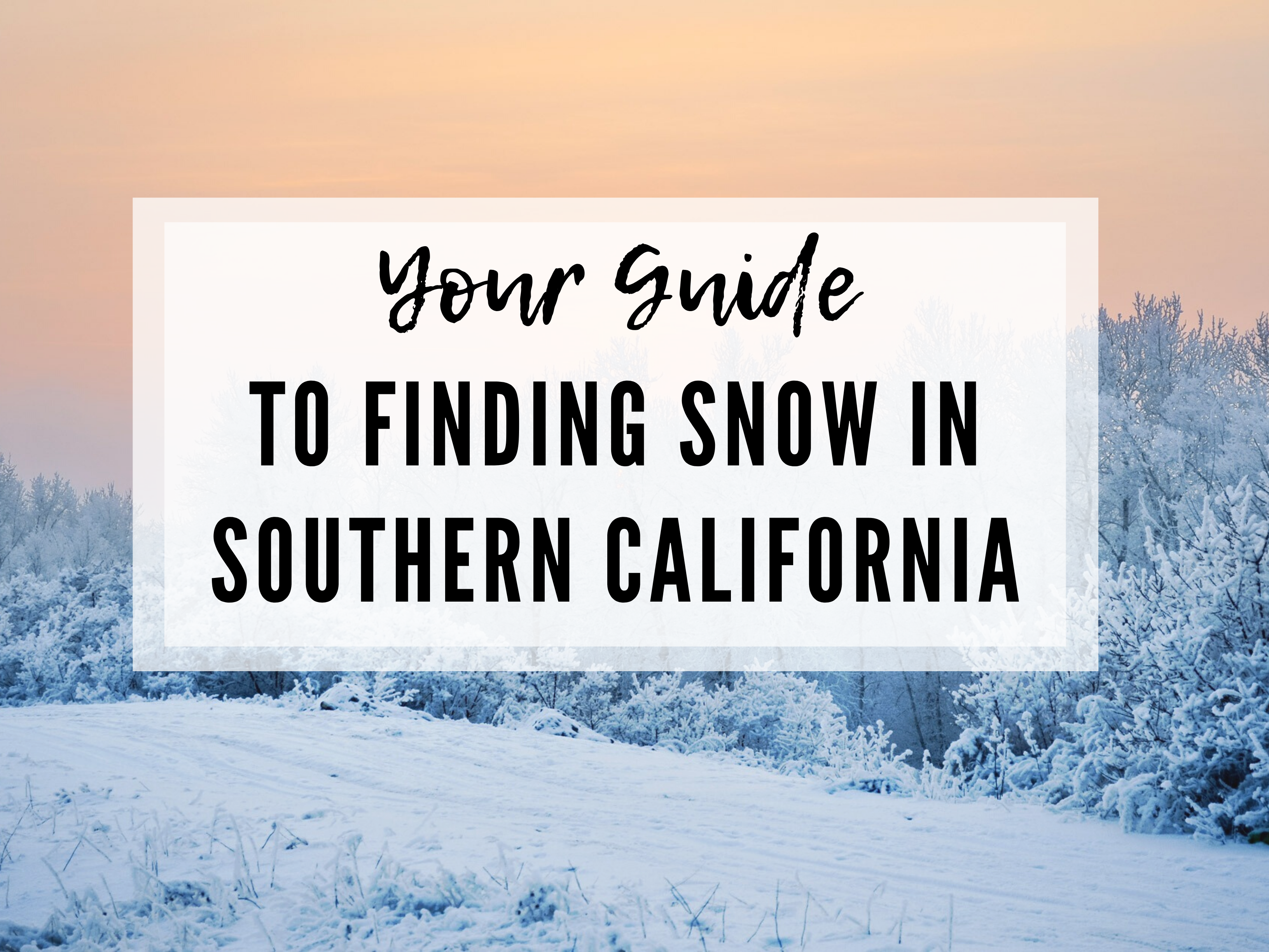 FINDING THE CLOSEST SNOW TO SAN DIEGO