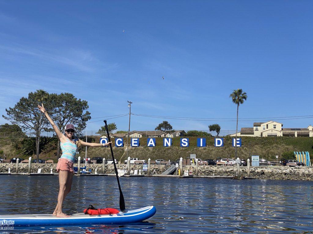 Paddle boarding in Oceanside Harbor