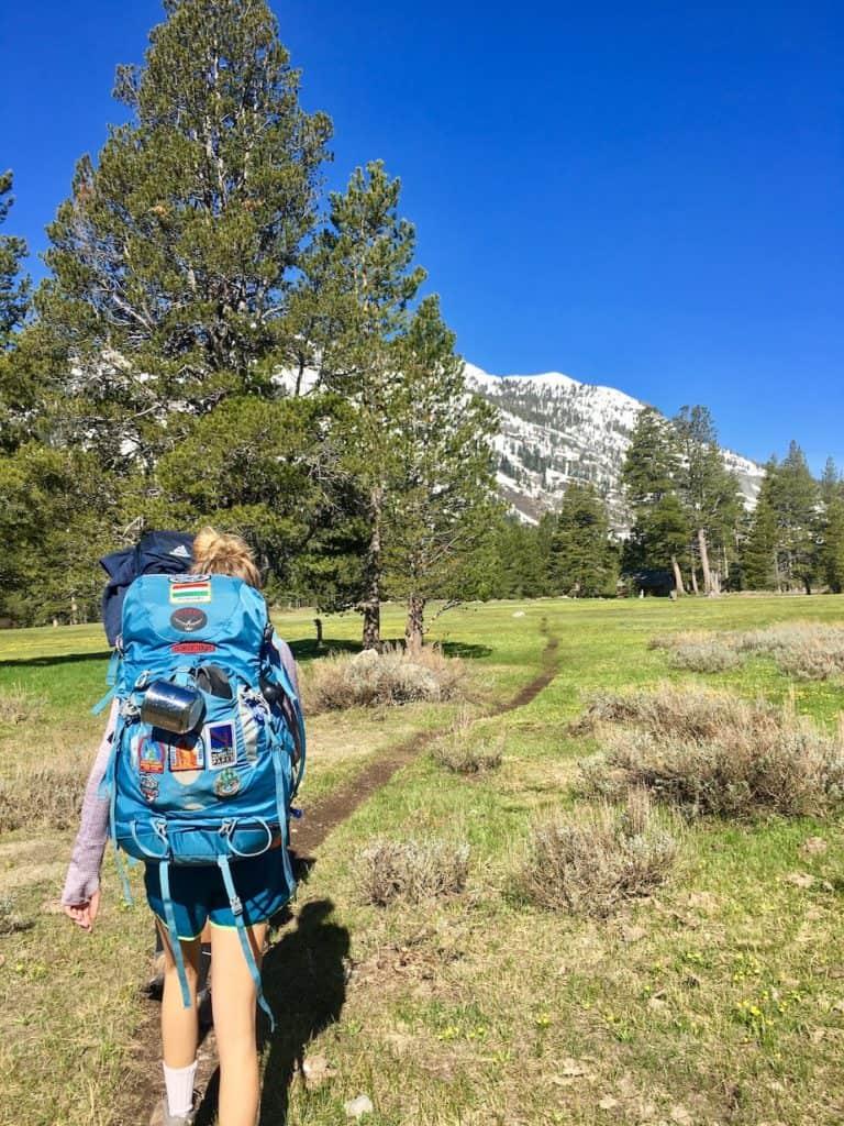 Beginner backpacking trips California Kennedy Lake