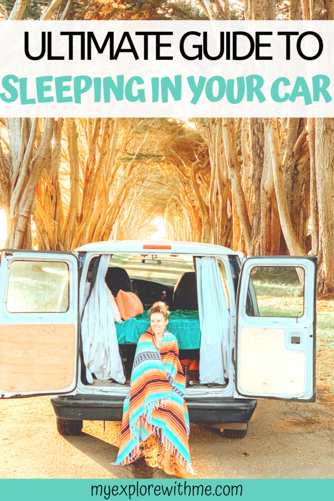 Looking for a more affordable way to vacation? Car camping is the perfect solution. I am sharing some car camping tips along with what kind of gear to pack when sleeping in your car. #carcamping #camping #vacation   car camping   sleeping in car   travel   camping   camping tips   car camping tips   car camping safety tips   how to sleep in your car   ultimate guide   cheap camping   free camping
