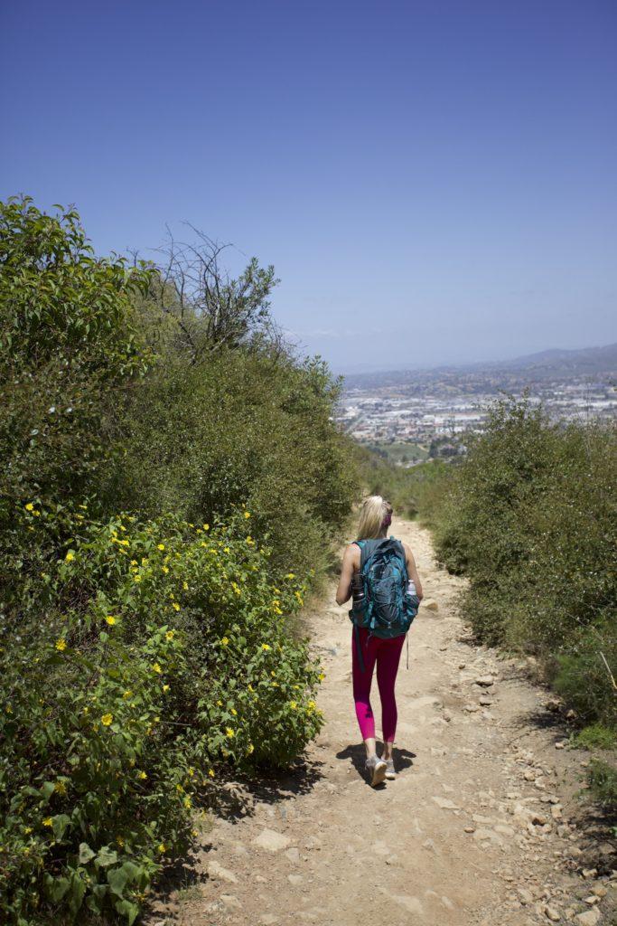 Double Peak hiking trail in San Marcos