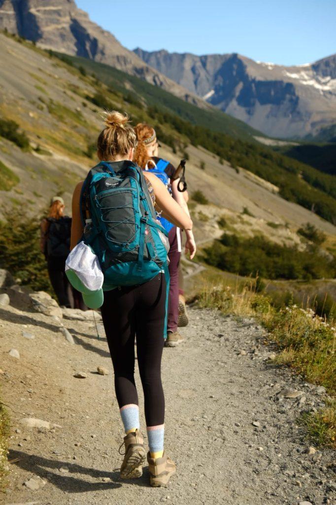 Trekking through Chile
