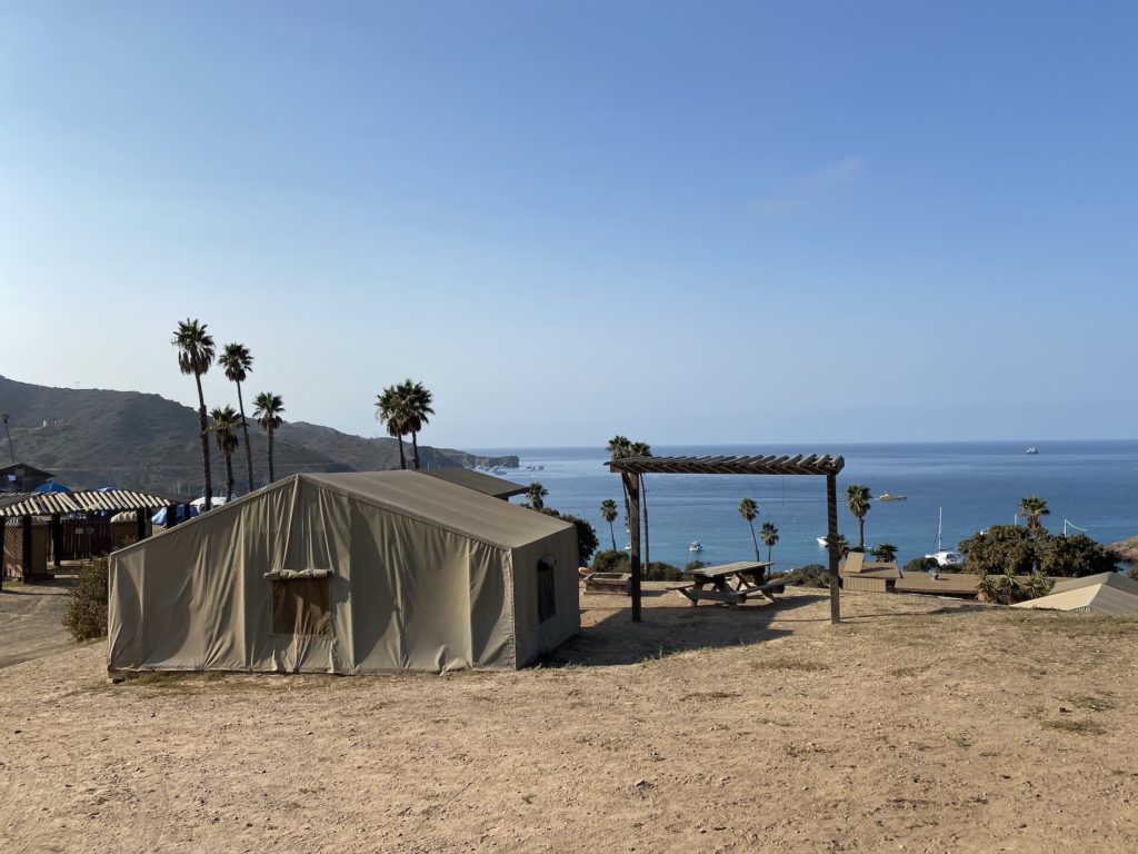 Views of Catalina Two Harbors camping camsites