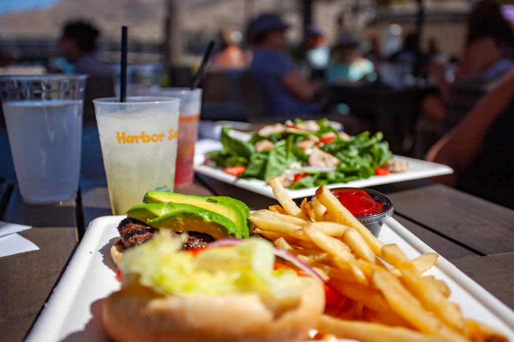 As a part of your Catalina Island Travel Guide you will want to eat at the Harbor Reef restaurant pictured here