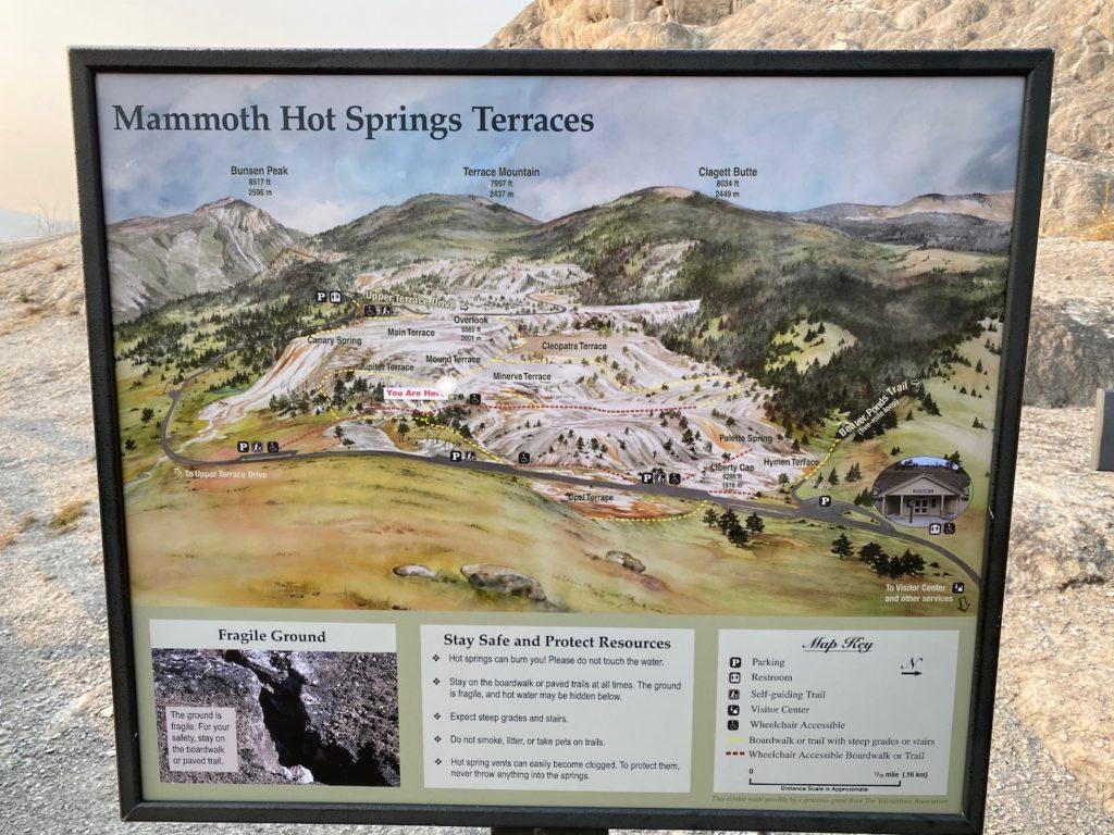 Mammoth Hot Springs Yellowstone Map