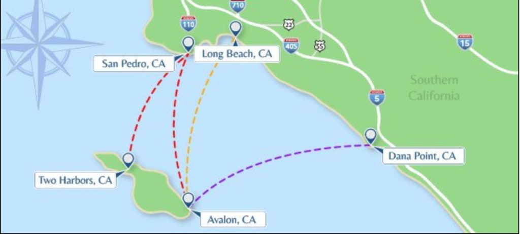 A map depicting the best ways to get around Catalina Island