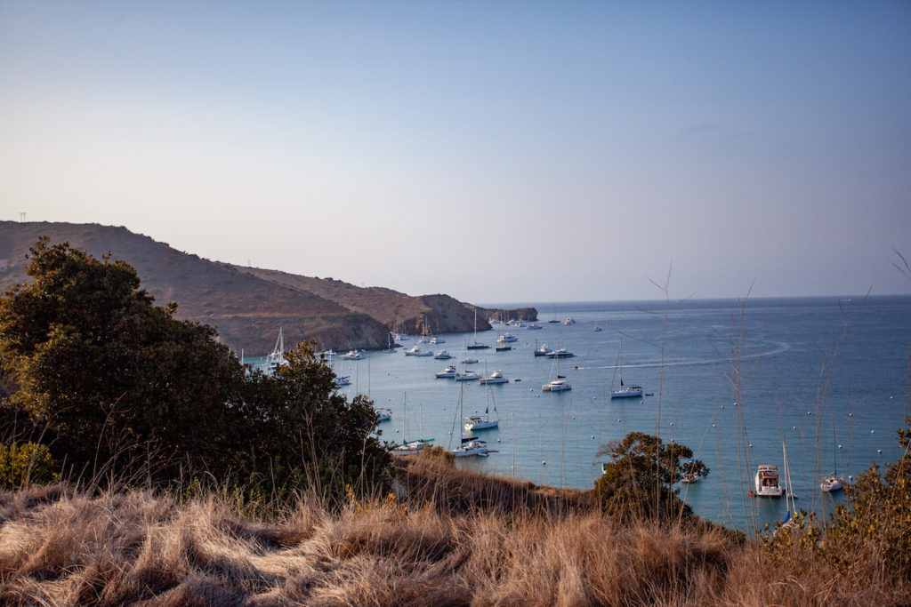 View of Two Harbors on Catalina Island
