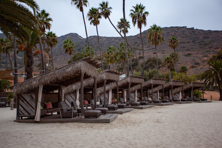 relaxing at the Cabanas on Two Harbors beach is a fun activity to add to your Catalina island itinerary
