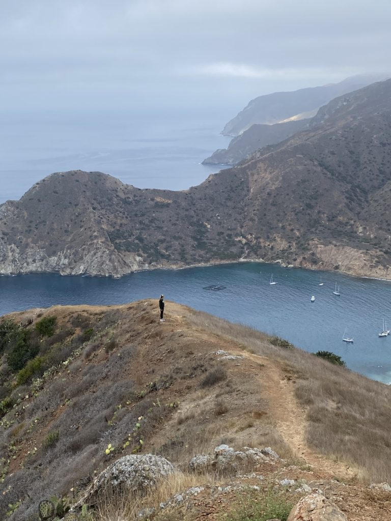 Hiking on Two Harbors beach is a fun activity to add to your Catalina island itinerary