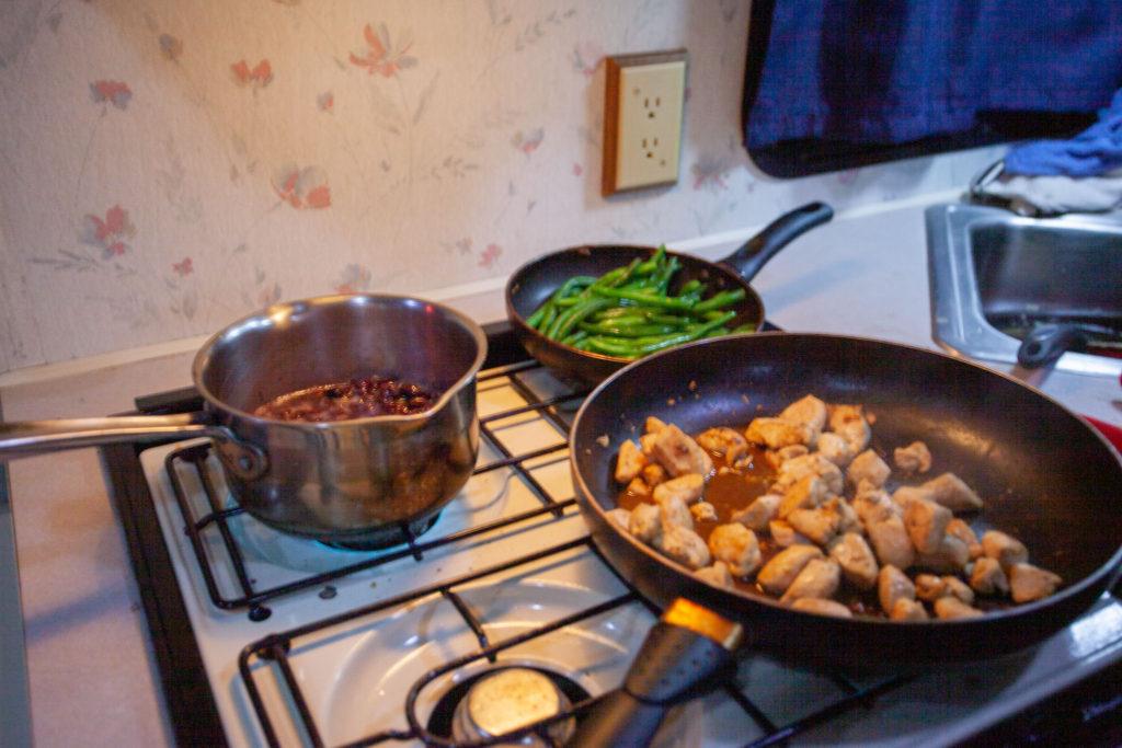 Easy camping meal: chicken fajitas