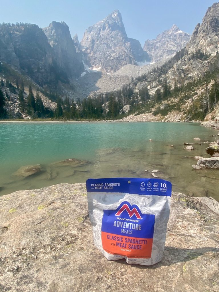 Pre packaged food for an easy camping meal