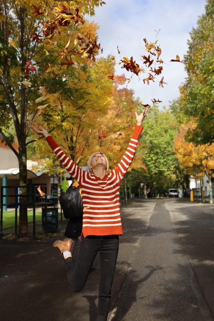 Fall leaves in Seattle