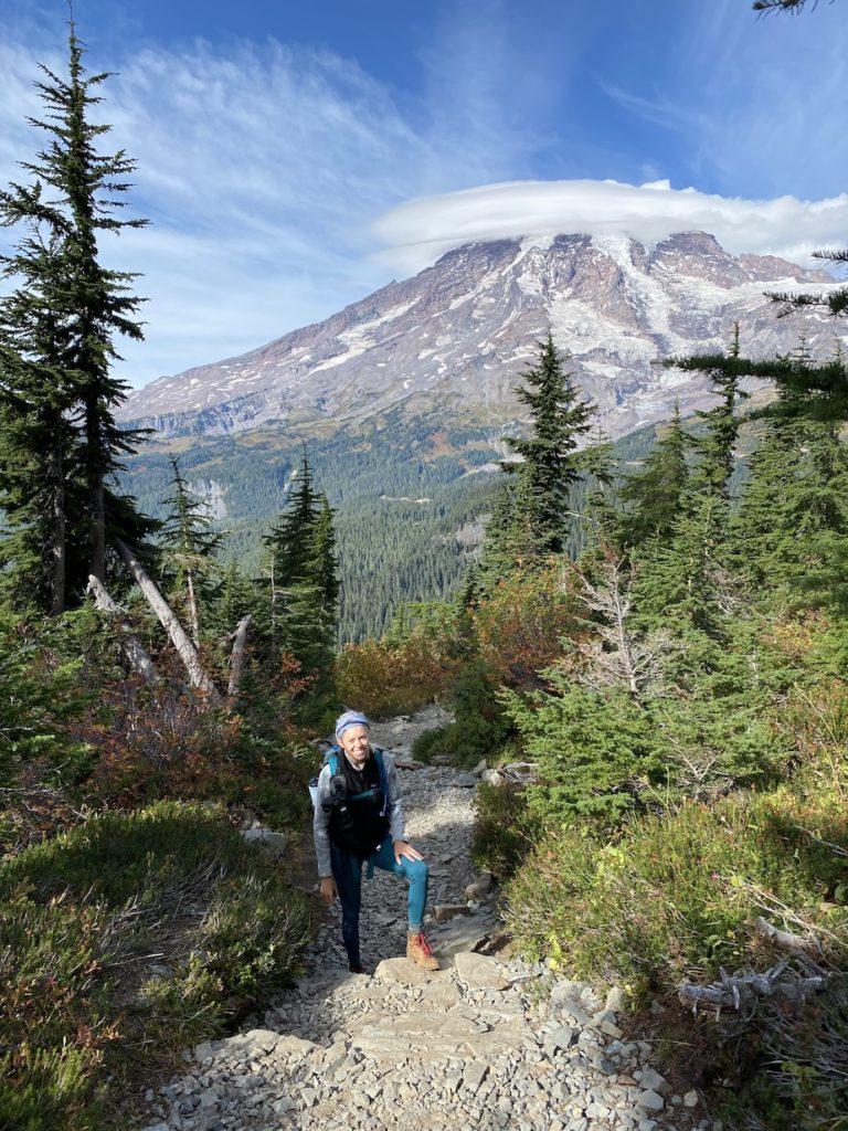 Hiking up Pinnacle Peak Trail