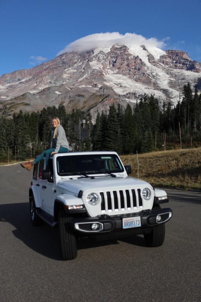 Roadtrip from seattle in a Jeep