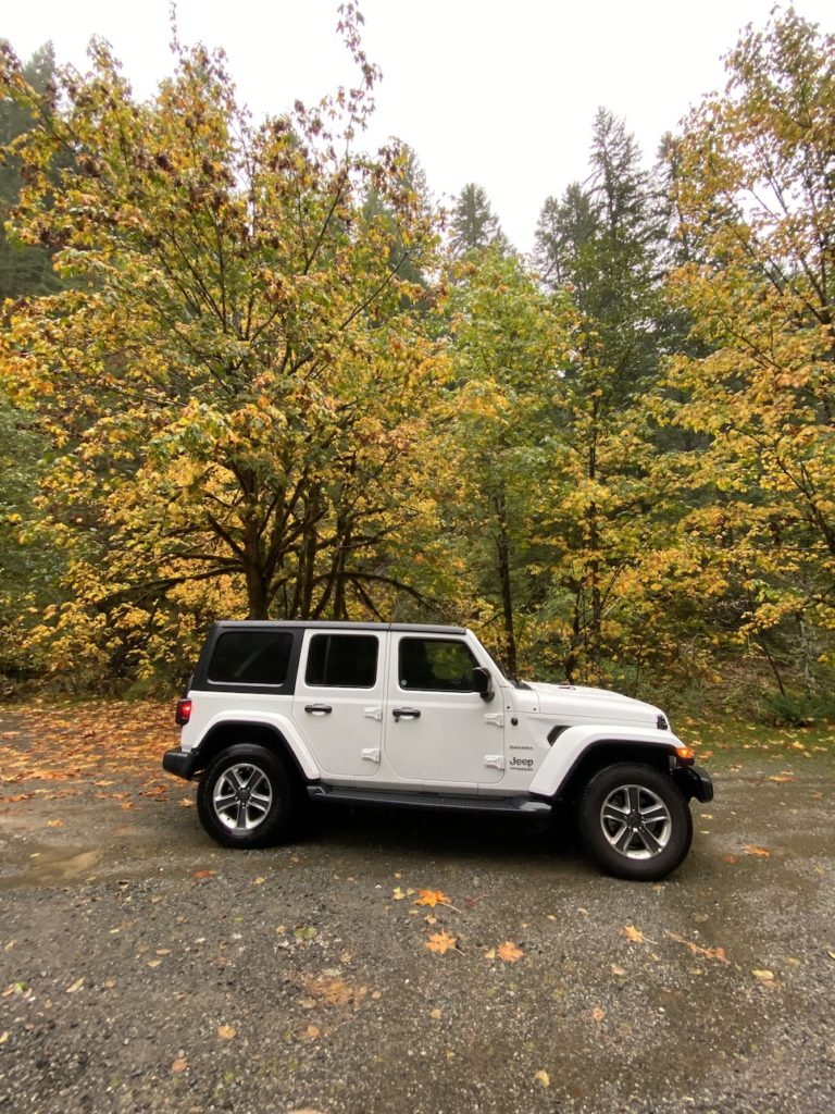 Roadtripping from Seattle in a Jeep Wrangler