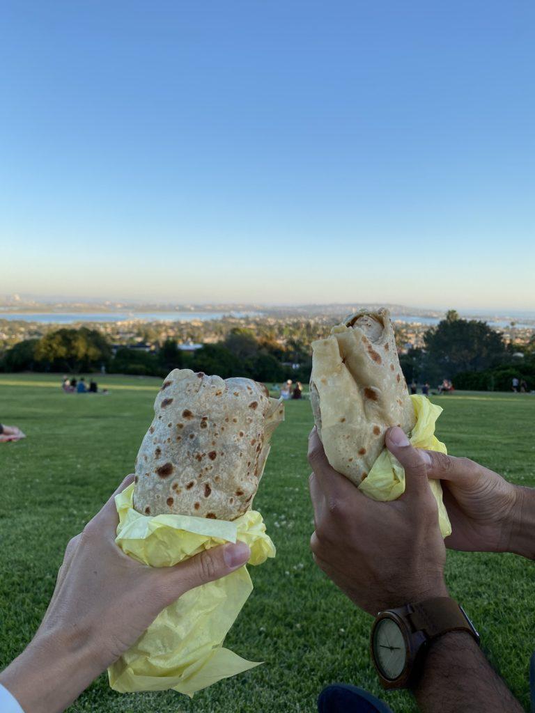 Burritos at Kate sessions park
