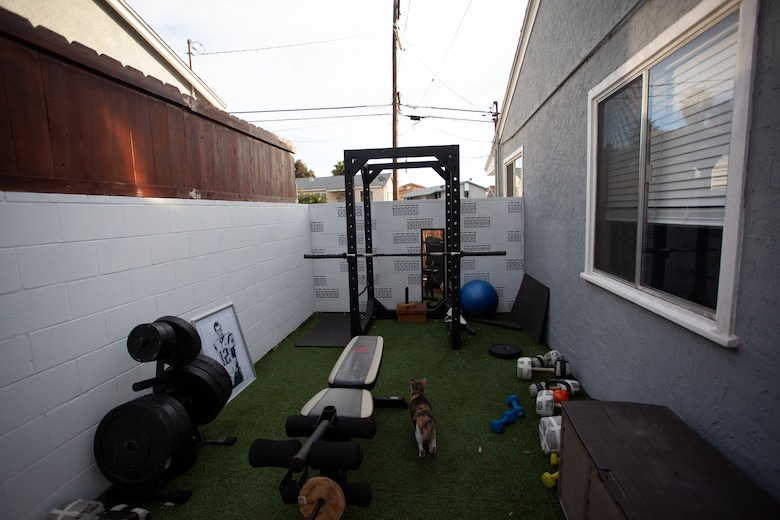 Home gym that was built on a budget.
