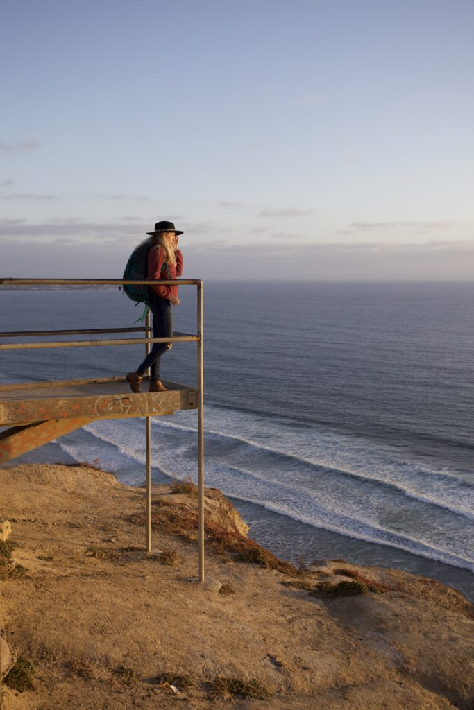 GIrl at Torrey Pines Gliderport in San Diego