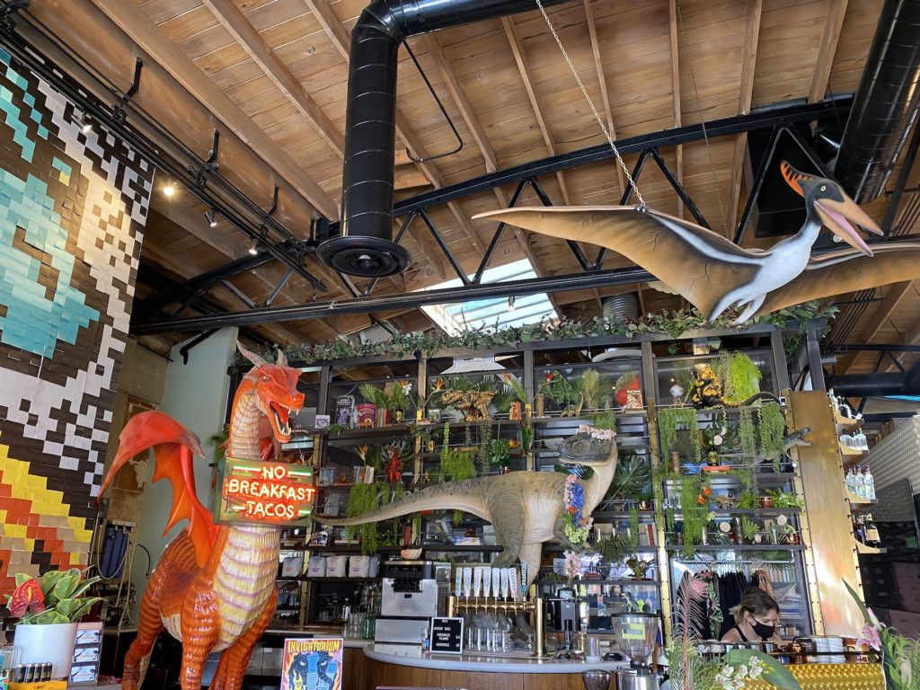 The Invigatorium in downtown San Diego is filled with dinosaurs
