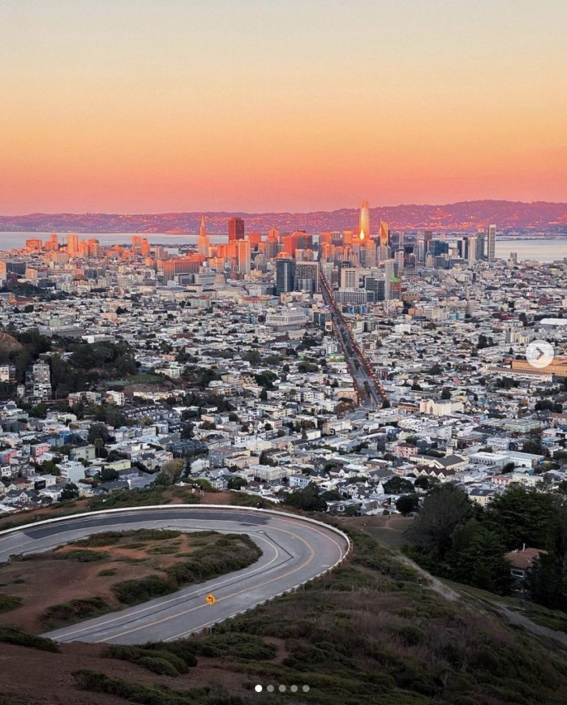 City Sunset from Twin Peaks in San Francisco