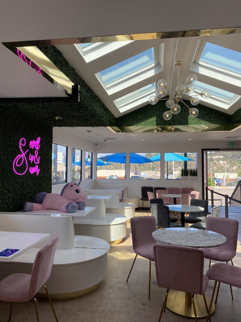 Inside of S3 coffee Bar in San Diego: one of the most instagrammable coffee shops in San Diego