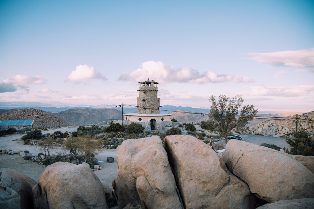View of the Desert View Tower in Jacumba, CA