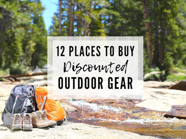 12 PLACES YOU CAN SAVE AND GET CHEAP DISCOUNTED OUTDOOR GEAR