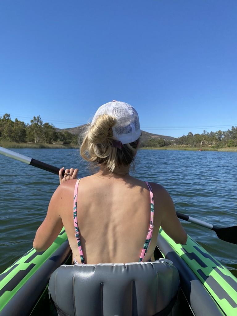 Girl Kayaking in Lake Murray