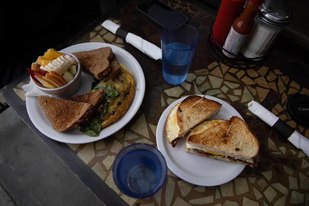 Breakfast at the Crossroads Cafe in Joshua Tree