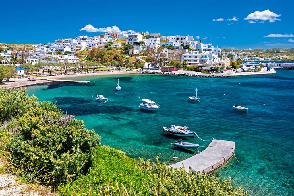 Blue waters in Greece