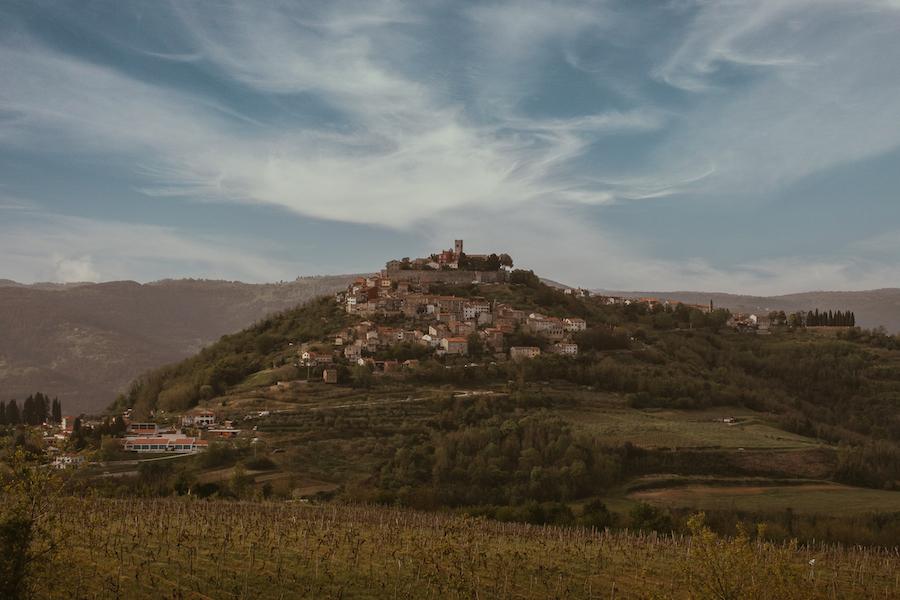 Rolling hills in Green Istria, Croatia